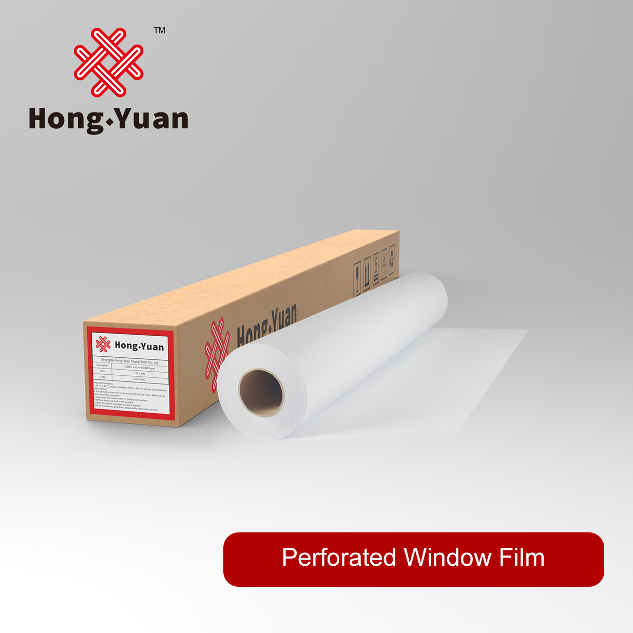 High Grade Perforated Window Film-OWV3000