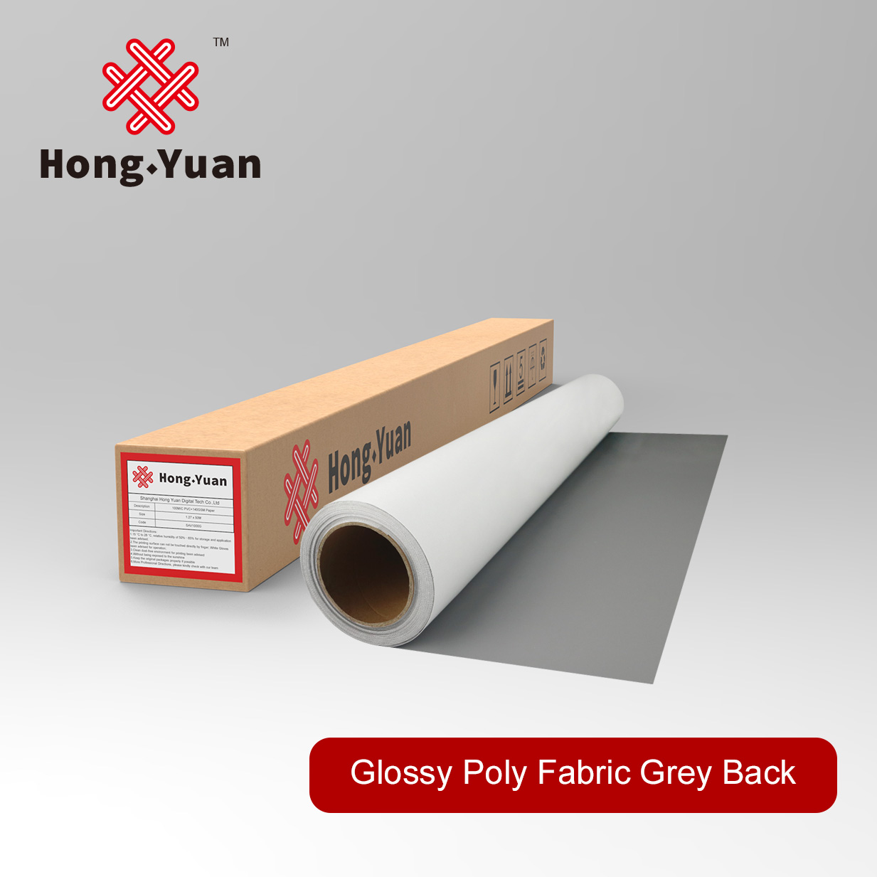Glossy Eco Poly Fabric Grey back-EPF201G