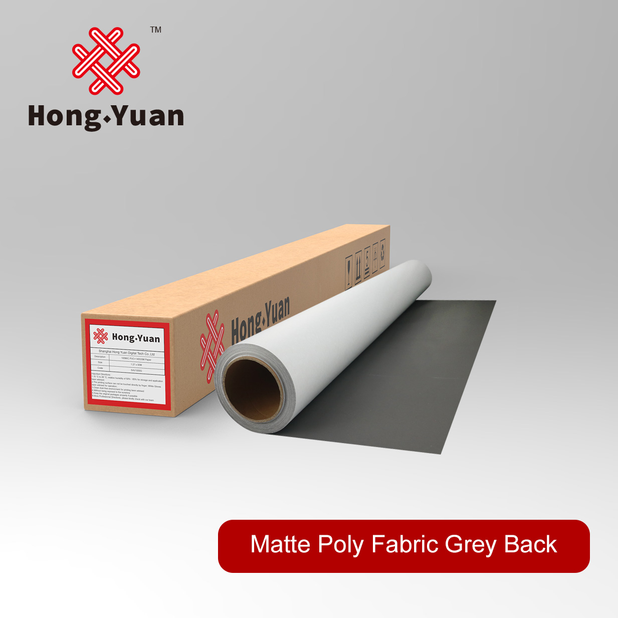 Matte Eco Poly Fabric Grey back-EPF201M
